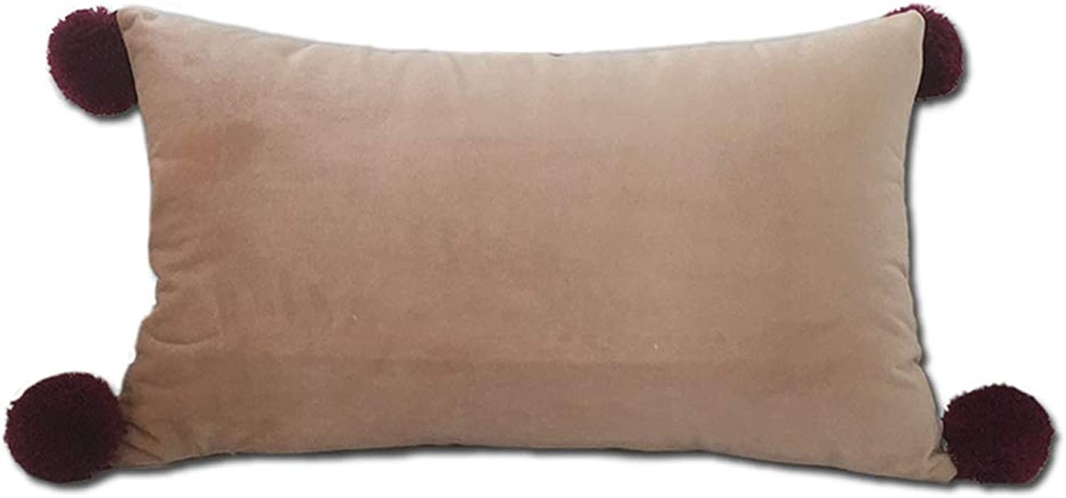 Car Decoration Cushion, Soft Suede Solid color Pillow Square Triangle Decorative Pillow Suitable for Sofa beds, Seats (with core),O