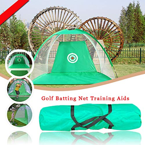 WUTONG Foldable Golf Batting cage Golf Cutting Club Pop-Up Practice Net...
