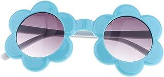 SM SunniMix 全5色 ベビー サングラス フラワー型 太陽の花 可愛い 偏光レンズ 紫外線抵抗 曲がり鏡脚 目保護