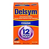 Delsym Adult 12 Hour Grape Cough Syrup, 3 oz (Pack of 6)