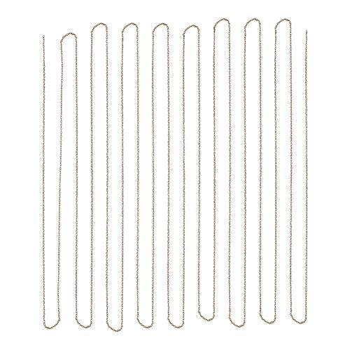PandaHall Elite 5 Yard Messing Cross Kette Cable Kette Groesse 2x1.5x0.5mm Schmuck Machen Kette Antique Bronze