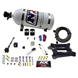 Nitrous Express 50040-10 4150 100-500 HP 4-BBL Gasoline Conventional Pro Power Plate System with 10 lbs. Bottle