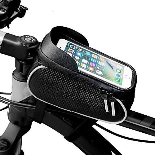 SAHWIN Porta Cellulare Impermeabile Telaio Borsa Trasporto Sacca Bici da Corsa/Mountain Bike/Decathlon/Strada - con Sblocco Touch-ID