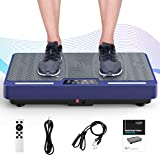 RINKMO Vibration Plate Exercise Machines with Resistance Bands,...