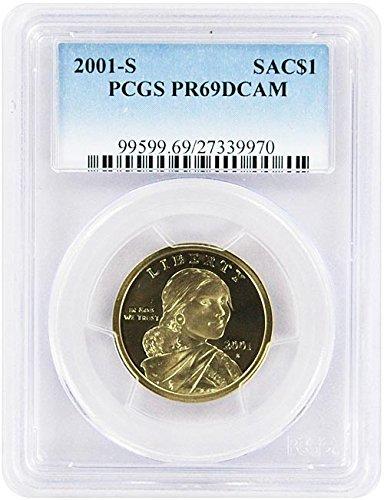 2001 S Proof Sacagawea Dollar PCGS PR 69 DCAM New Blue Label Holder