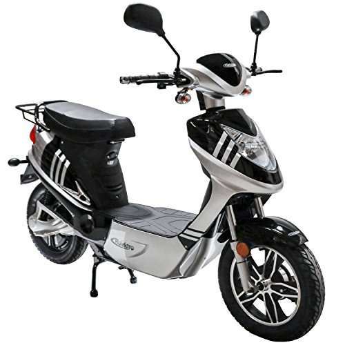 Rolektro eco-City 20 V.2 Schwarz-Silber Elektroroller 20 Km/H Straßenverkehrszulassung 500W E-Scooter Keine Helmpflicht