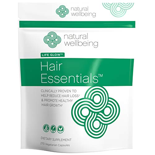Natural Wellbeing - Hair Essentials Natural Herbs and Vitamins Hair Growth Supplement for Women and Men - 270 Count
