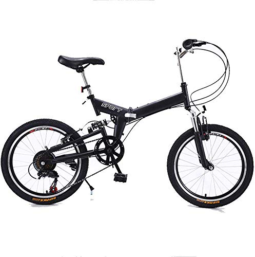 Pkfinrd 20-inch vouwsnelheid fiets - volwassen vouwfiets - gratis installatie vouwsnelheid mountainbike volwassen auto, blauw