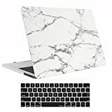 ProCase MacBook Pro 13 Case 2019 2018 2017 2016 Release A2159 A1989 A1706 A1708, Hard Case Shell Cover and Keyboard Skin Cover for MacBook Pro 13 Inch with/Without Touch Bar -White Marble