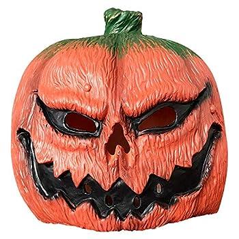 Halloween Costume Party Props Latex Pumpkin Head Mask Orange Unisex One Size