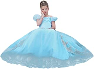Fancy Dress Kids Girls Off Shoulder Puff Sleeve Princess Costume Pageant Cosplay Party Dress Up Clothes for Little Girl