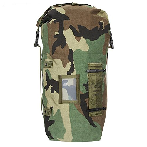 US Army Woodland Camo NBC Chem Chemical Suit Bag Back Pack Straps Mopp Gear