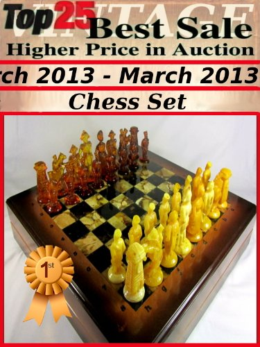 Top25 Best Sale Higher Price in Auction - March 2013 - Vintage Chess Set