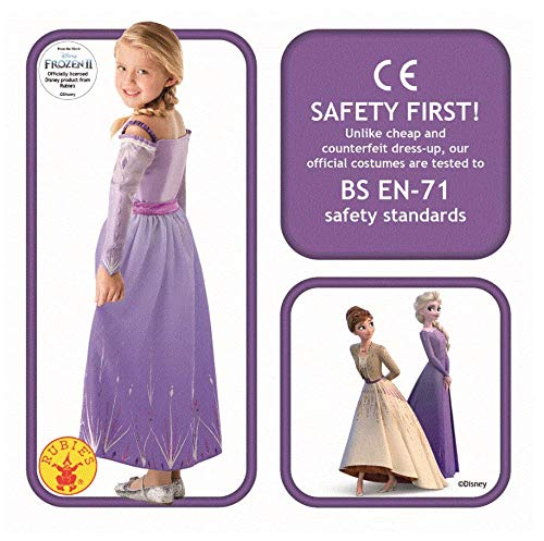 RUC7O|#Rubie's- Elsa Prologue Frozen2 Classic Costume Ragazze, Lilla, XL, 300460-XL