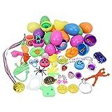 Wosiky Huevos de Pascua Rellenos Juguetes nuevos Canasta de Pascua para Accesorios de Fiesta de Pascua, Regalos de Pascua para niños 12 Piezas