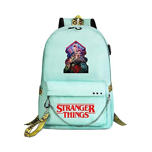 Elegante Mochila para computadora portátil, Inspirada en Stranger Things,Mochilas Escolares Ocasionales Mochilas al Aire…