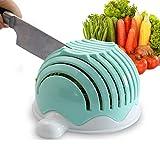 Salad Cutter Bowl,T-swan Salad Cutter Bowl Upgraded Easy Salad Maker, Fast Fruit Vegetable Salad Chopper Bowl Fresh Salad Slicer