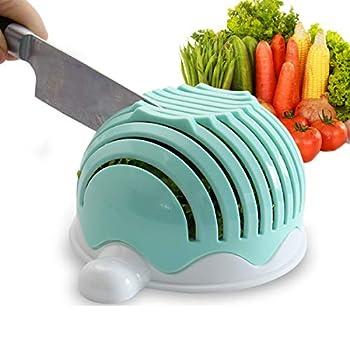 Salad Cutter Bowl,T-swan Salad Cutter Bowl Upgraded Easy Salad Maker Fast Fruit Vegetable Salad Chopper Bowl Fresh Salad Slicer