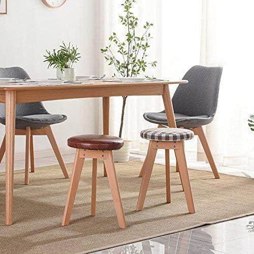JZX Table de ménage en Bois Massif Ronde et détachable
