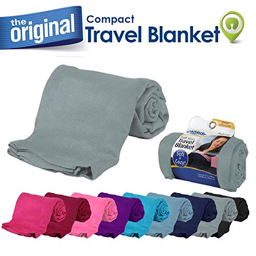 Cloudz Compact Travel Blanket - Charcoal