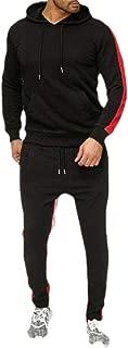 Mens 2 Piece Tracksuit Set Sweatshirt Bodycon Sweatpants Jogger Sets