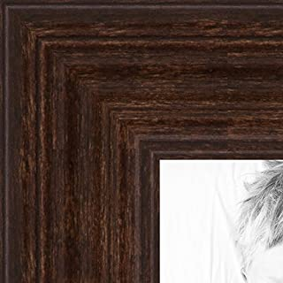ArtToFrames 20x20 inch Walnut Stain on Hard Maple Wood Picture Frame, WOM0066-60823-YWAL-20x20