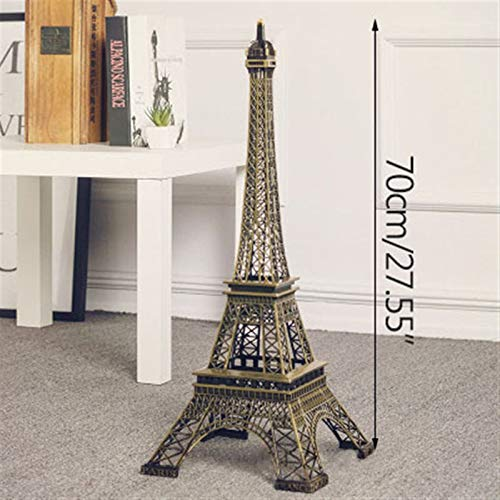 Torre de bronce 10cm-70cm metal Torre Eiffel Craft Modelo Decoración retro sitio antiguo modelo de decoración del hogar decoración de los accesorios Decor miniaturas (Color : 70cm)