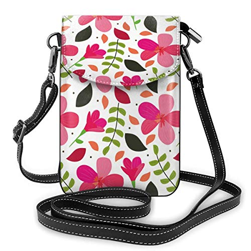 XCNGG Pink Blossoms Cell Phone Purse Crossbody Bag Pouch Shoulder Bags Wallet For Women Girls Travel Wedding