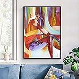 Pintura sin Marco Arte de la Pared en el Lienzo, Pintura de Personajes, Imagen Abstracta de la decoración de la Sala de Estar Abstracta ZGQ2057 50X70cm