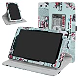 Sprint Slate 8' Tablet Rotating Case,Mama Mouth 360 Degree Rotary Stand with Cute Cover for 8' Sprint Slate 8 (AQT80) / Sprint Slate 8 Plus Android Tablet,Newspaper