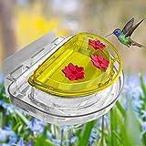 Lulu Home Hummingbird Feeder, 8 Fluid Ounces Flower Bird Feeder with 3 Feeding Stations for Outdoors
