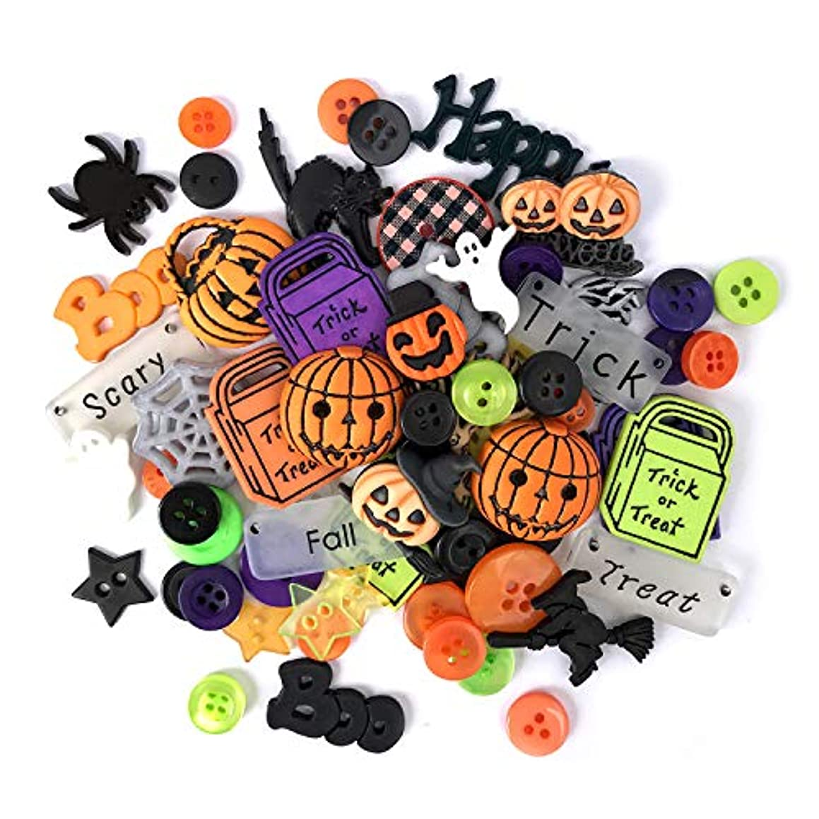 Buttons Galore Halloween Value Pack-50 Buttons