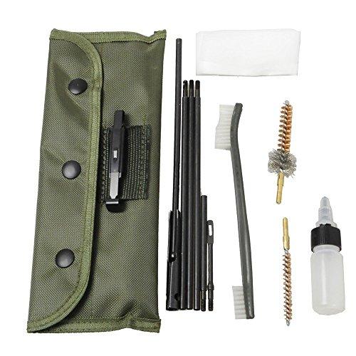 Kit de nettoyage de fusil de chasse - Nettoyeur de fusil - Brosse - Tige d'entretien pour calibre 22, 223,556 - Pochette d'accessoires durable