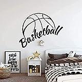 Calcomanías de pared de baloncesto canasta de flores deportes habitación de los niños baloncesto calcomanías de arte para interiores pegatinas de pared decoración del hogar-47x59cm