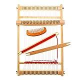 Kit di telaio per tessitura in legno per maglieria a mano per principianti e bambini