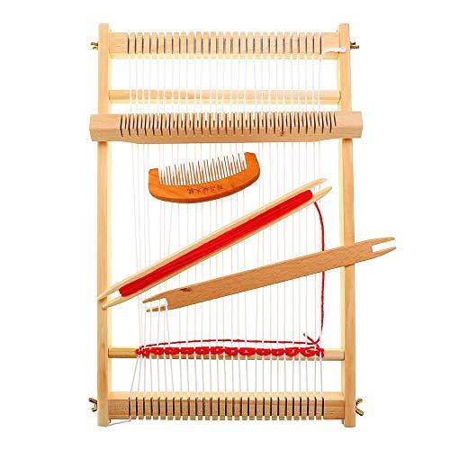 DIYARTS Kit de Métier à Tisser Machine à Tricoter à la Main Bricolage Tissé à la Main Tissage à la Main en Bois de Chaîne de Métier à Tisser pour Débutants et Enfants