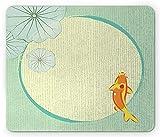 Yanteng Cojín de ratón, un pez Chino de Lujo de la Historieta en Obra de Arte Oriental Oriental de la impresión de Lily Pond
