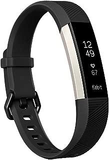 Fitbit Alta HR Activity Tracker, Large, Black FB408SBKL (Renewed)