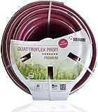REHAU Premium-Gartenschlauch QUATTROFLEX Profi für gewerbliche Anwendungen, kein abknicken, kein verdrehen, extrem druckfest, 13mm (1/2') 40m
