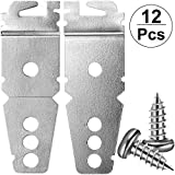 12 Pieces Undercounter Dishwasher Upper Mounting Bracket Replacement and 24 Installment Screws, 8269145 Dishwasher Undercounter Mounting Kit