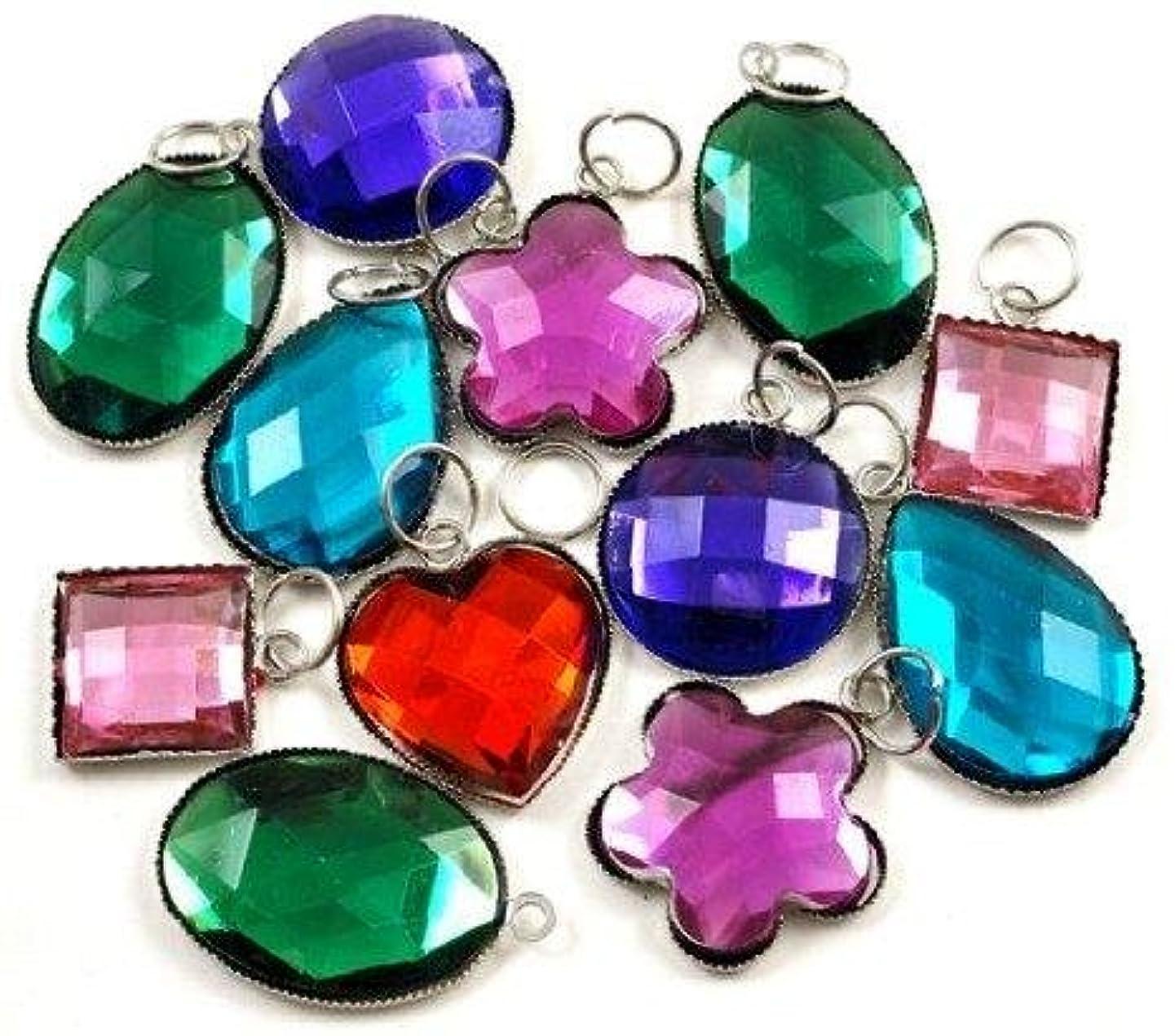 Large Gemstone Charms For Rubberband Bracelets (Set Of 12)