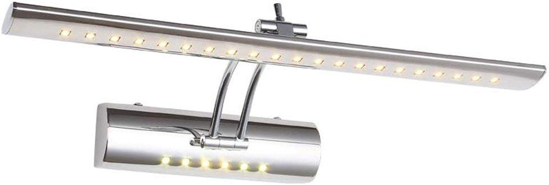 BAIF Moderne Einfache Edelstahl Einstellbarer Winkel LED Spiegel Frontleuchte Bad Wandleuchte Spiegelschrank Dressing Spiegelleuchten (Weies Licht) (Gre  55 cm 7 Watt)