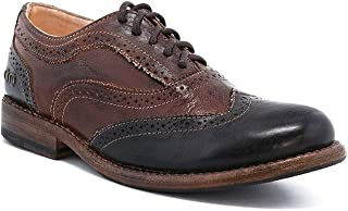 Women's Lita Oxford Teak/Black Rustic Rust Leather Shoe - 6.5 B(M) US