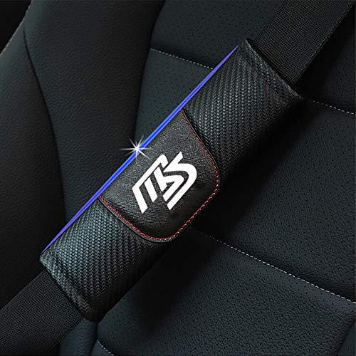ZXCV 2 Fundas Coche Almohadillas Cinturón Fibra Carbono, para Mazda Cx3 Axela Cx5 Cx7 Demio Mx5 Cx9 Ms Hombro Correa Protector Seguridad con Logo Auto Interior Accesorios