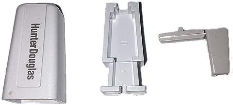 Hunter Douglas Duette Cord Stop Housing and Knob (3 piece set) (5, White Tiara (White))
