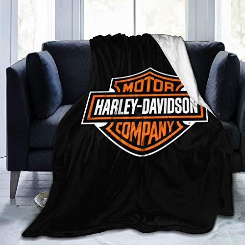 Lphdfoxh1 Harley Davidson Deckenbezug Decke Flanell Wolldecke Reise-Super Weiche Flauschige Warme Sofadecke