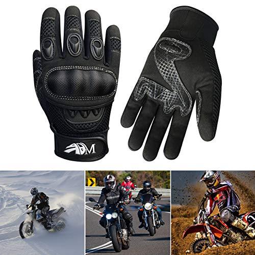 Prime Ganzer Finger Motorrad Sport Reiten Mountainbike Schutz Sommer Handschuhe 9001 – Schwarz, Small - 6