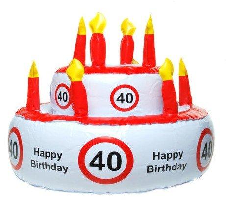 Aufblasbare Geburtstagstorte 40 Jahre Party Deko Geburtstag