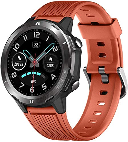 Reloj Inteligente 1.3 pulgadas pantalla de color pulsera inteligente recordatorio de información multifunción Bluetooth reloj deportivo-naranja