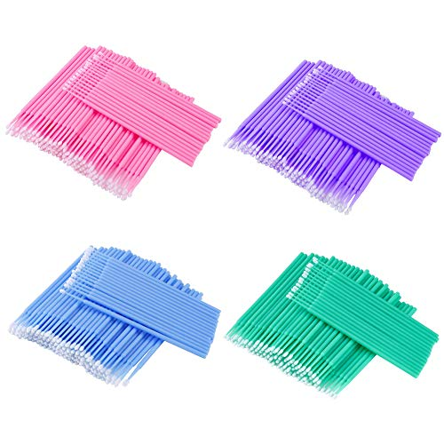 Einweg Microbürsten Wimpernbürste Reinigungsstäbchen Applikator für Wimpernverlängerung Entferner Makeup Dental 400 Stück